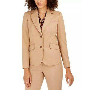 NWT Anne Klein Tan Twill Two Button Blazer Jacket